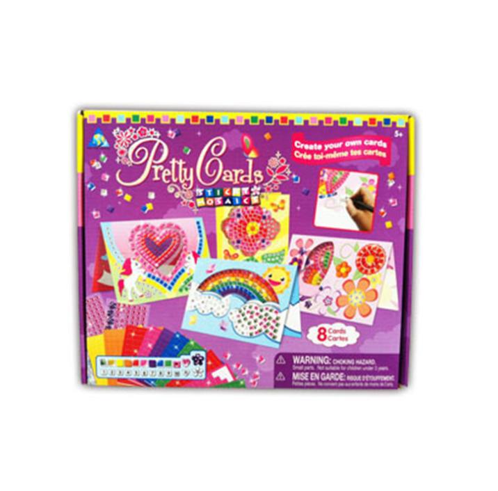 玩具堡儿童益智马赛克数字贴纸拼图 益智玩具DIY贺卡教师节礼物