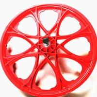 20*1.75塑料轮毂 一体自行车轮辐 16寸20寸自行车塑料一体轮毂