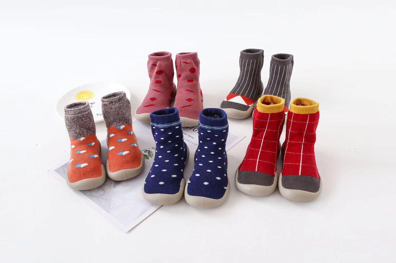 同款韩国秋冬款豹纹儿童室内鞋宝宝袜子鞋婴儿学步鞋地板袜