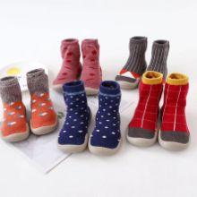 同款韩国秋冬款豹纹儿童室内鞋宝宝袜子鞋婴儿学步鞋地板袜批发