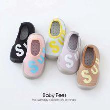毛毛虫宝宝鞋袜婴儿学步胶底鞋儿童防滑保暖鞋袜贴牌加工批发