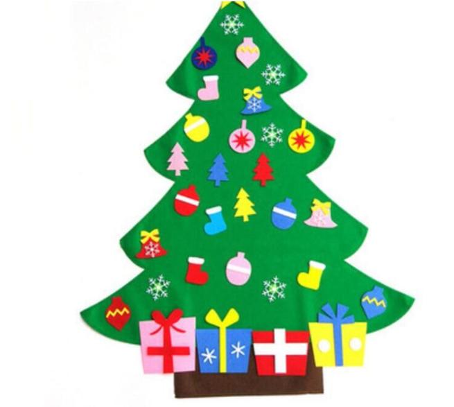 圣诞节装饰用品 创意毛毡挂饰儿童手工DIY挂件 毛毡圣诞饰品定制