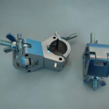 特制组合扣/卡不同管径大小铝扣件/铝合金管夹扣/双扣/舞台架灯钩