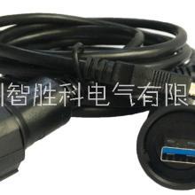 USB3.0母座侧插插件 3.0USB插座防水连接器