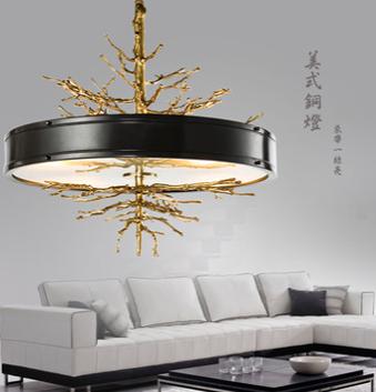 美式法式创意铜灯直销