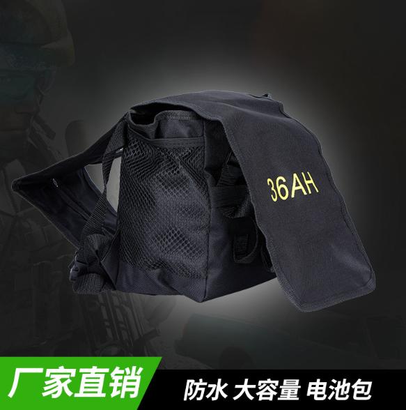 厂家直销 定制12V电瓶背包36A H 黑色普通版 PVC防水锂电池背包