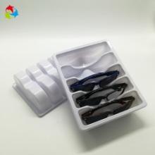 实力厂家定做日用品PET吸塑盒 现模生产白色PVC眼镜吸塑内托