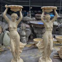 天使雕塑欧式砂岩女神雕塑园林景观小品人物雕塑