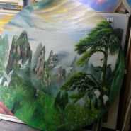 专业风景人物静物油画装饰画国画图片
