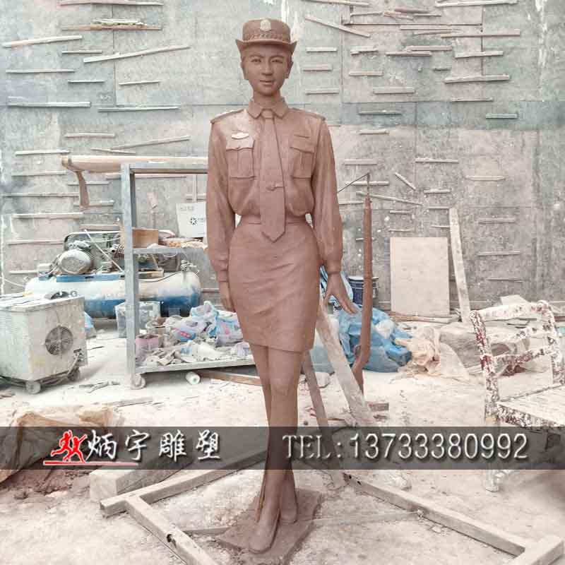 曲阳炳宇雕雕塑 玻璃钢人物雕塑 女警察同志雕塑 古代人物雕塑 军人雕塑 骑马人物雕塑 校园人物雕塑 战马战车雕塑