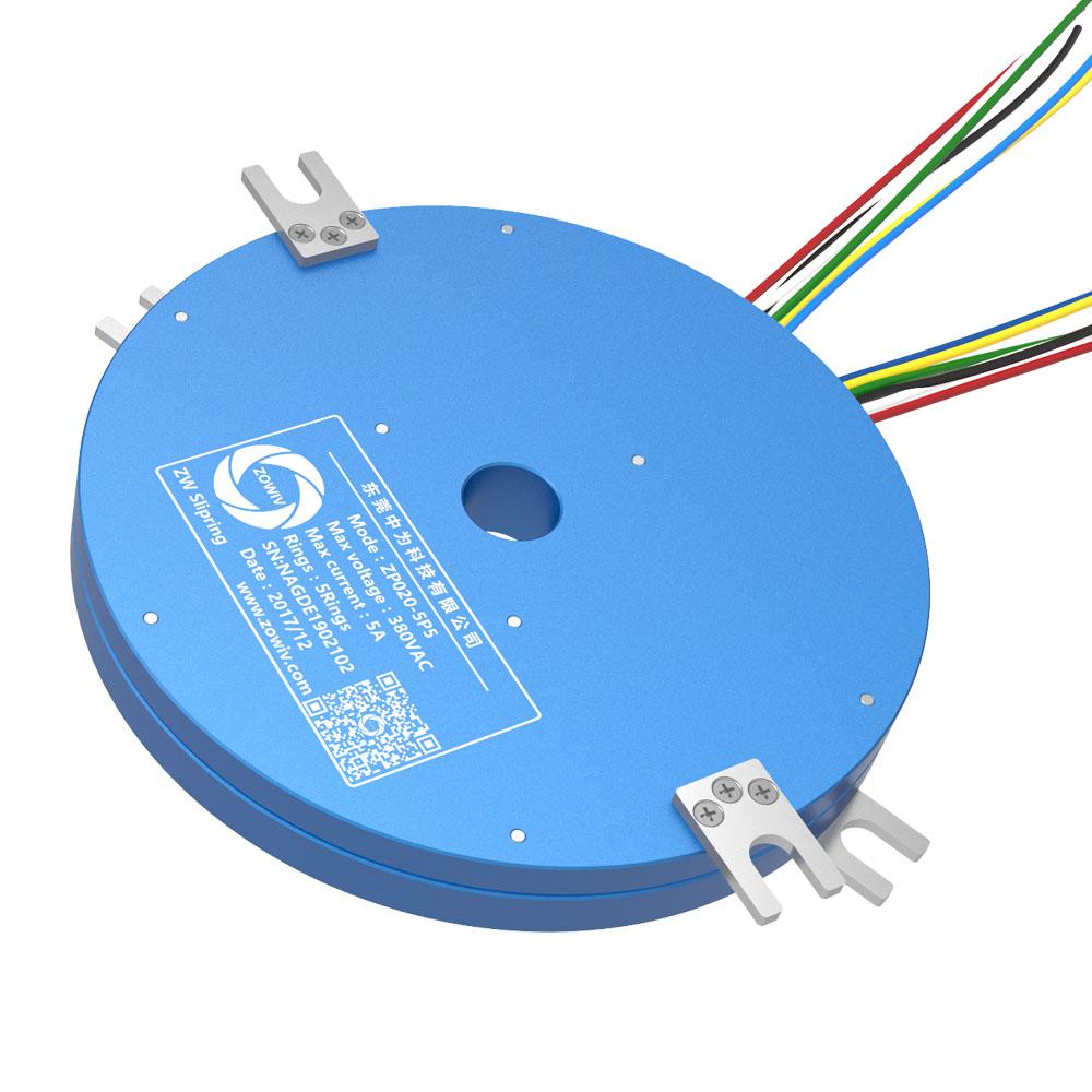 【超薄盘式导电滑环】360度旋转传输电流信号盘式旋转接头