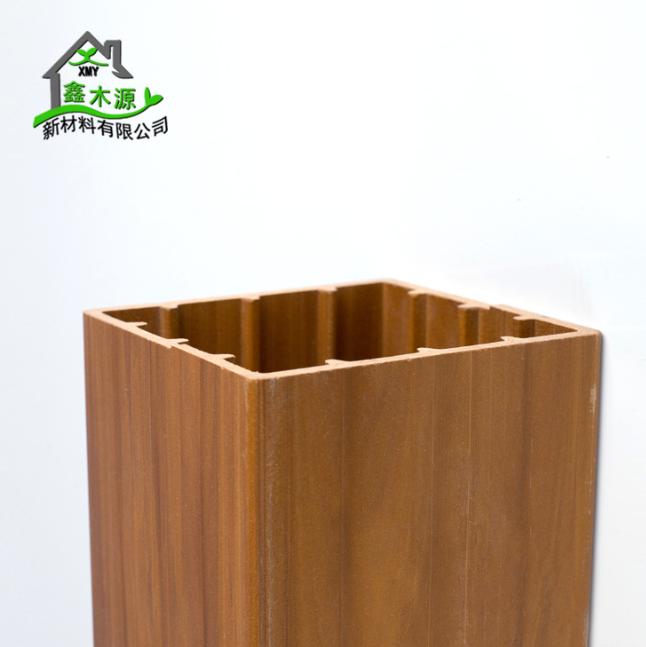 厂家直销生态木方通 室内装修新型装饰材料PVC木塑100*100方木 木塑方木