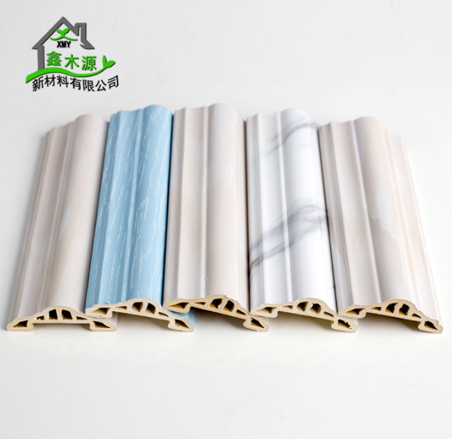 厂家直销生态木PVC罗马线 新型装饰材料室内装饰线条60罗马线