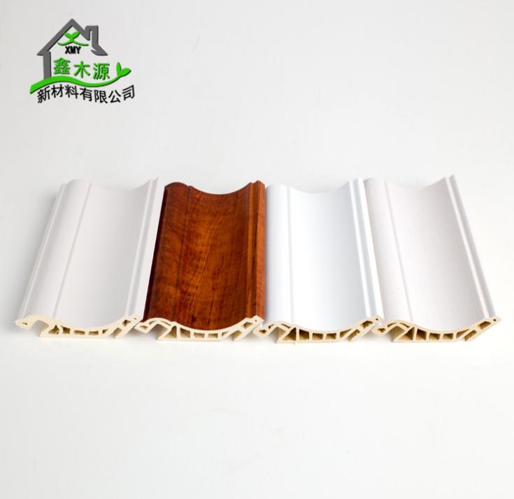 厂家直销生态木PVC顶角线 新型装饰材料室内装饰线条100顶角线