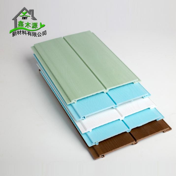厂家直销生态木双75浮雕板 家装室内塑木装饰墙裙板PVC木塑护墙板