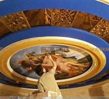 餐厅酒店商业空间墙体彩绘壁画手绘墙专业墙绘装饰设计施工公司图片