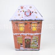 圣诞屋铁罐,屋形铁盒供应图片