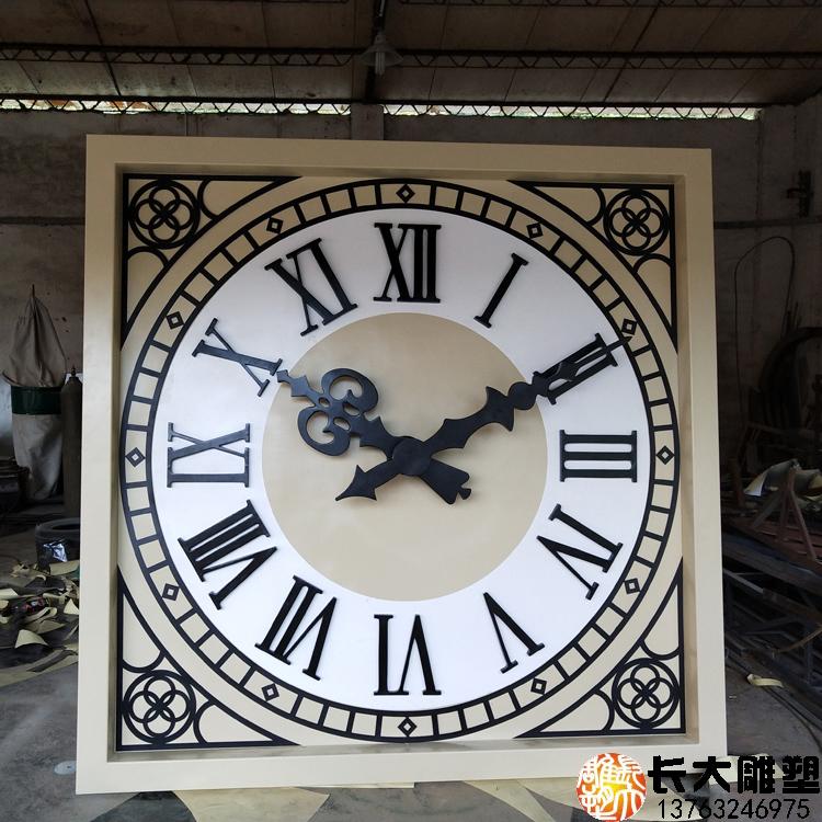 雕塑厂家直销铸铜时钟华为外墙景观工程制作