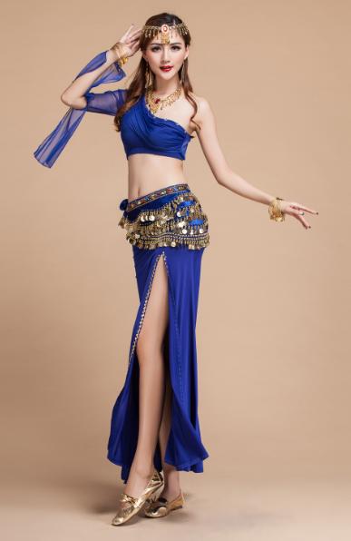 新款性感 成 人套装表演服 高档新印度舞表演服 练习服装 天竺少女服装 肚皮舞表演服