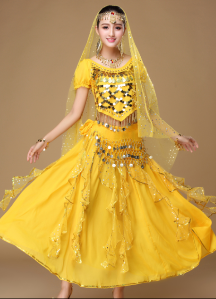 现代成 人女新疆舞服装 肚皮舞少数民族服饰印度舞服装 天竺少女舞服装 性感表演服新款 新疆肚皮舞服 新疆肚皮舞服装