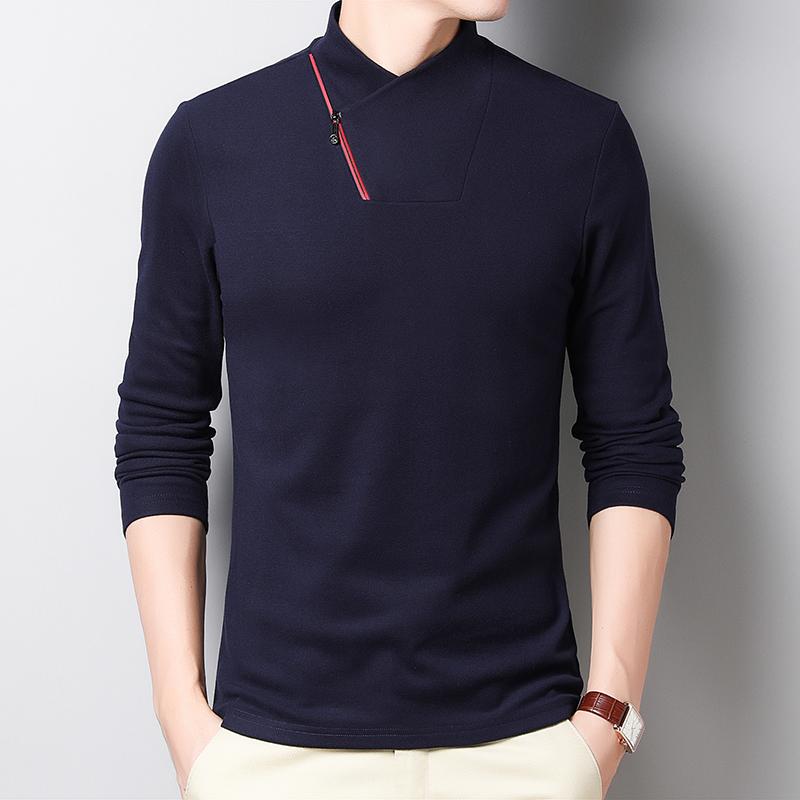 广州供应春秋季男装长袖T恤厂家批发生产多少钱一件