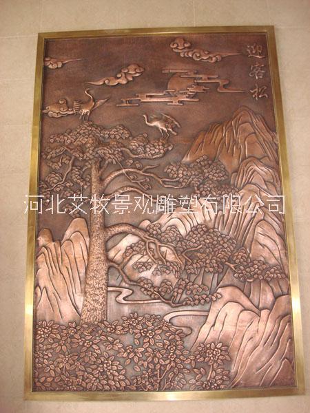 紫铜浮雕壁画做工好的加工定做厂家价格优惠