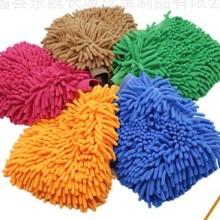 厂家直销 清洁洗车手套 珊瑚绒洗车手套批发价格 河北洗车手套