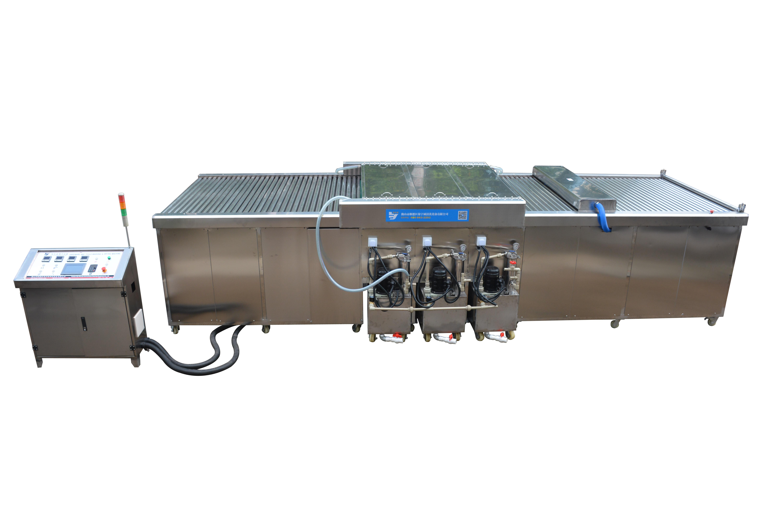 实真精密机械非标定制清洗机除粉尘除油污铝材门板清洗设备