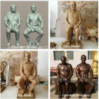 真人铜雕肖像定制老人铜像现代人物铜像制作
