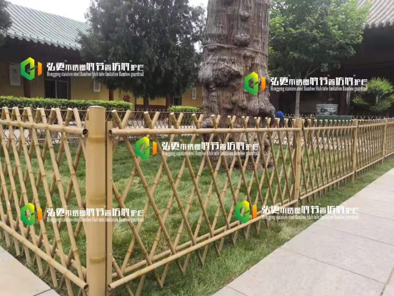河北竹节护栏安装价格 弘更金属直销