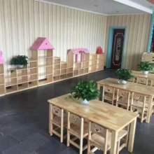 儿童桌椅 实木桌椅 橡木桌椅幼儿园实木桌椅厂家批发