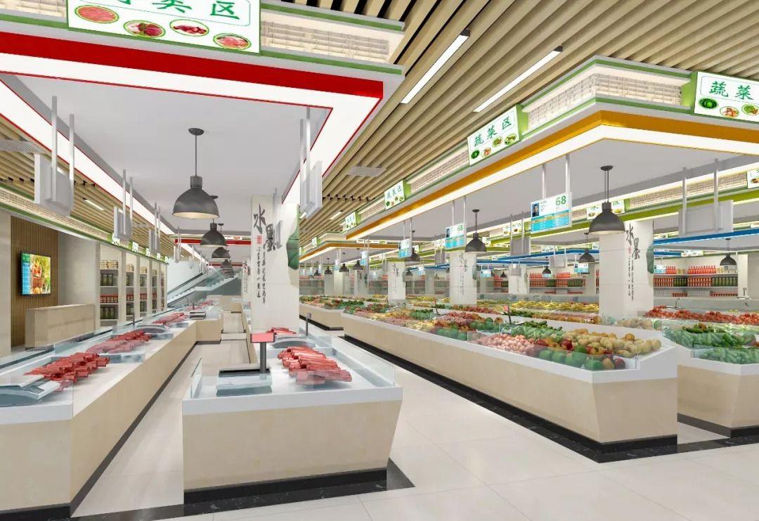 长沙农贸市场装修,长沙壹番装饰 长沙农贸市场设计,农贸市场装修图片
