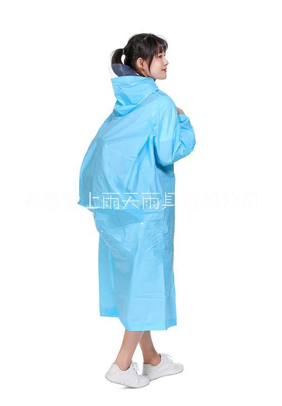 908EVA背包雨衣 加大加厚EVA帽带雨衣