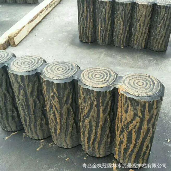 仿木树桩直销  电话 价格 厂家 价格《青岛金枫冠园林水泥景观护栏有限公司》