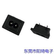 吉林插PCB板八字型AC插座丨八字尾电源插座经销商丨八字插座批发丨8字公座销售图片