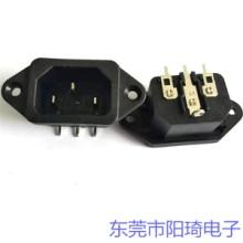 郑州销售插PCB板品字型C14插座丨品字公座价格优惠丨ST-A01系列AC插座批发