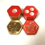 厂家定制药品包装盒 安宫牛黄丸六角形铁盒 六角罐马口铁金属盒 厂家定制药品包装盒价格