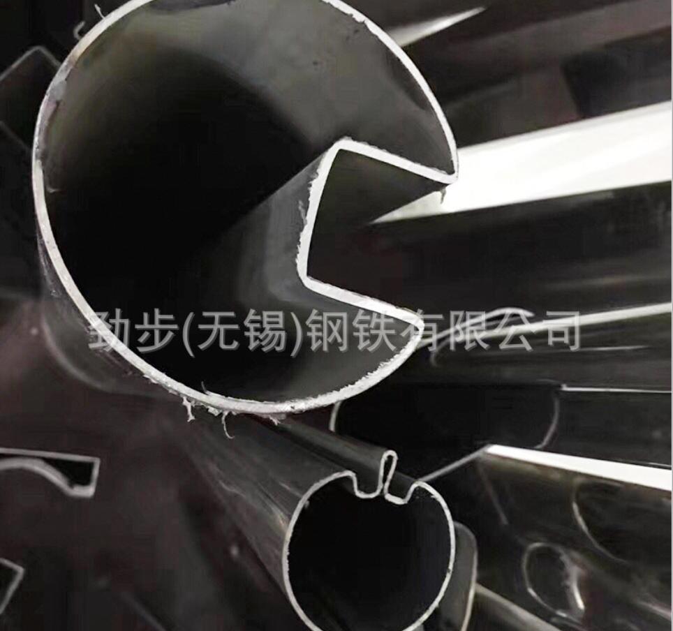 不锈钢异型管 304焊接凹槽椭圆管 不锈钢管件批发