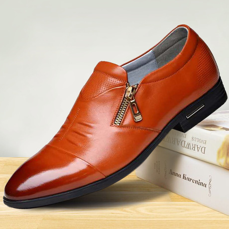 男士皮鞋 春季休闲潮鞋 商务正装皮鞋批发
