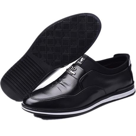 韩版青年潮鞋 增高超纤透气男皮鞋 男士休闲皮鞋
