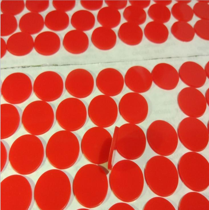 深圳厂家红色硅胶垫 透明硅胶脚垫 密封硅胶垫片 自粘硅胶防滑垫