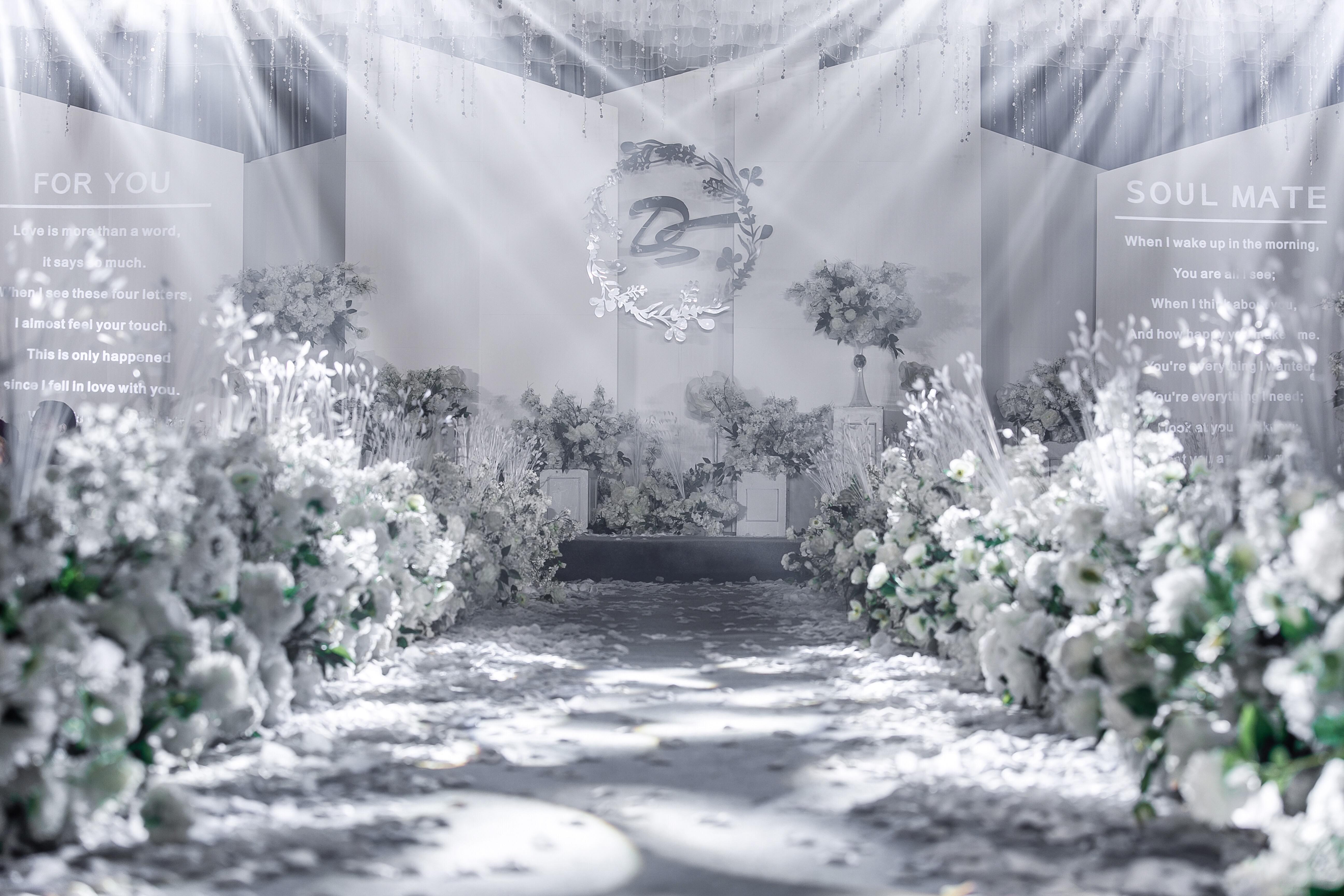 白绿小清新婚礼 人气推荐 含四大和布置哈尼婚礼
