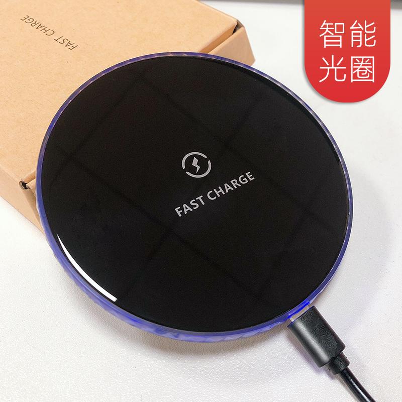 新款10w无线充电器 适用苹果安卓手机超薄圆形无线快充定制logo