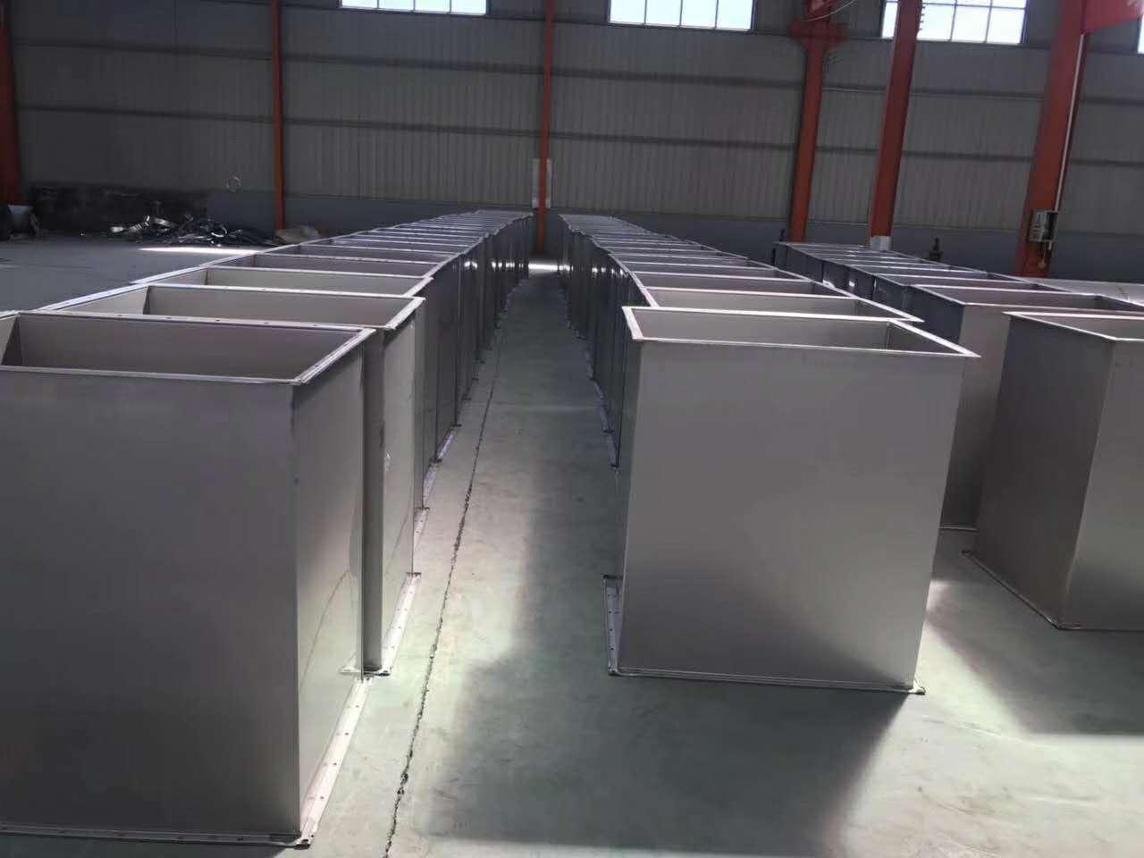 方形白铁皮排风管定制 不锈钢风管现货供应排烟排气风管定制