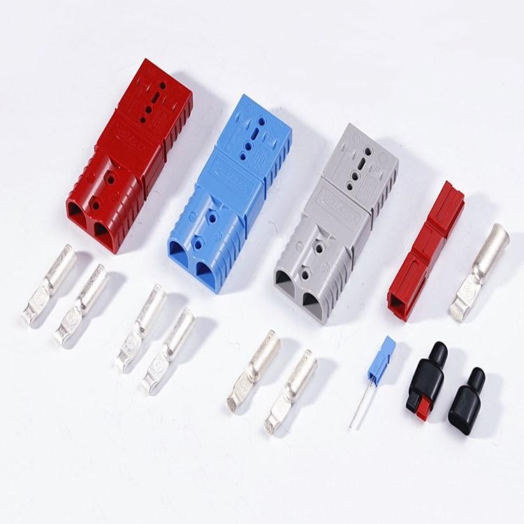 120A 安德森插头 快速充电插头 出口品质连接器 含软防尘盖 T型辅助拉手 120A安德森插头  120A插头
