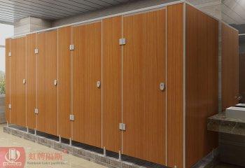 东莞厕所木纹隔断 卫生间成品隔断  木纹防水公共厕所隔断