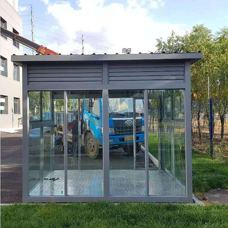ZLGT093   智朗生态环保吸烟亭 户外开放式不锈钢吸烟室 厂家直销各种样式吸烟房