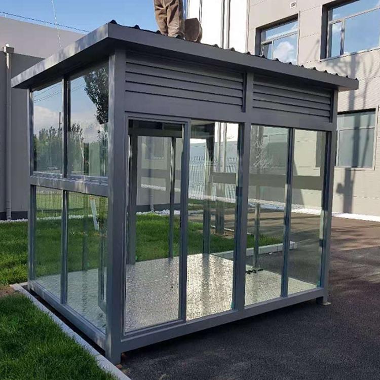 ZLGT094  智朗生态环保吸烟亭 户外开放式不锈钢吸烟室 厂家直销各种样式吸烟房