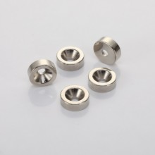 广东沉头孔钕铁硼磁铁定制 沉头孔钕铁硼磁铁价格图片