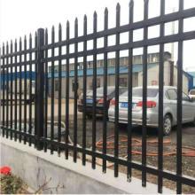 围墙喷塑栅栏 公路铁路护栏网 市政道路锌钢护栏图片